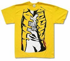 "QUEEN ""FREDDIE'S JACKET"" YELLOW T-SHIRT NEW OFFICIAL MERCURY ADULT"