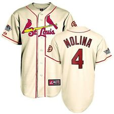 Yadier Molina 2013 St Louis Cardinals World Series Alternate Ivory Jersey Men's