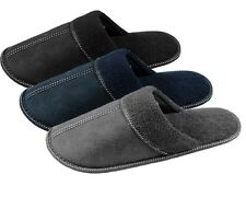 Men's Plain Faux Suede Mule Slippers, Soft Comfy Slippers, Gift For Him B20