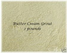 Discontinued BUTTER CREAM Sanded GROUT ~1 & 2 LBS ~ Mosaic Tile TILES