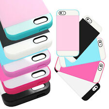 For Apple iPhone 5 / 5S Cell Phone Case Hybrid Credit Card ID Holder TPU Cover