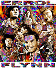 ERROL FLYNN TRIBUTE T-SHIRT OR PRINT BY ED SEEMAN