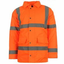 Dunlop Mens Gents Hi Vis Warm Winter Coat Parka Long Sleeve Jacket