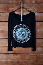 Live by the sun love by the moon black shirt top jersey yoga chic cute S/M/L