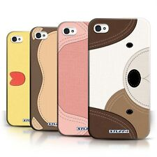 STUFF4 Back Case/Cover/Skin for Apple iPhone 4/4S/Animal Stitch Effect