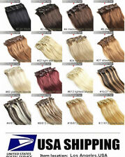 """NEW SHOP! 22"""" Long Remy Clip In 100% Real Human Hair Extensions 7PCS 70g ,USA !"""