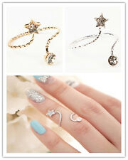 You Come From The Star Cute Twisted Above Knuckle Band Midi Nail Start Love Ring