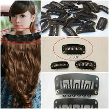 33mm Wholesale Lots Black U-Shaped Snap Clip For Hair Extension Hair Accessories