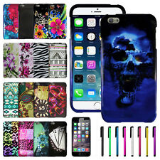 Colorful Snap On Cover Hard Case+LCD Guard+Stylus For Apple iPhone 6 Plus 5.5""