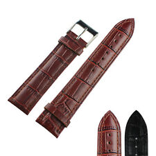 16/18/20/22mm Leather Wrist Watch Band Strap for Watch Stainless Steel Buckle