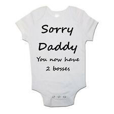 Sorry Daddy Funny Personalised Baby/Toddler Vest Newborn Gift - Bodysuit/Grow