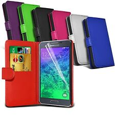 PU Leather Wallet Case Cover & Screen Protector FOR ALL Samsung Galaxy Models