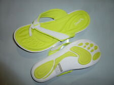 TONY LITTLE CHEEKS barefoot snuggle foam SANDALS neon green yellow sizes size