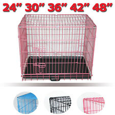 Dog Puppy Cage Pet Crate Training Travel Carrier Playpen Metal Folding Greenbay