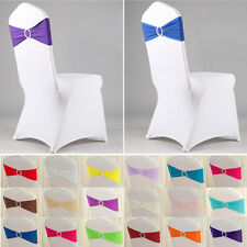 Lycra Spandex Chair Back Supplies Wedding Party Sash Band with Buckle Deco