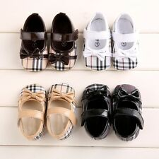 Cute fashion Bow Infant Toddler Shoes Baby Girls Soft Sole Velcro Crib Shoes CA3