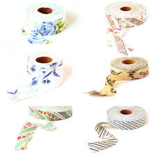 Wholesale 8 color Pattern diy handmade cloth wrapping cloth 4.3CM*3M 100% Cotton