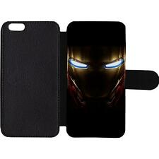 Iron man Leather Wallet/Flip Phone Case Cover for iPhone Samsung Card slots iPad