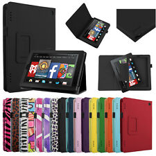 "For 2014 Amazon Kindle Fire HD 7"" Tablet Folio PU Leather Smart Case Cover Stand"