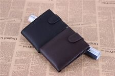 Black/Coffee Solid Purse Men's Money Clip Leather Wallet Fashion Credit Card