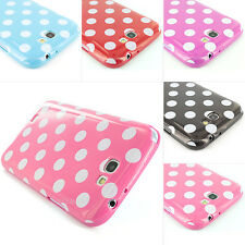 Colorful Polka Dots TPU Gel Cover Skin Case for Samsung Galaxy Note II 2+Screen