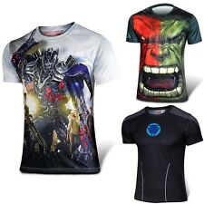 New Arrival Superhero Costume T-shirt Long Sleeve Short Jersey Exciting T001T002