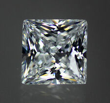 White / Clear AAAAAA 53 Facet Square Princess Cut Cubic Zirconia CZ 6-20mm