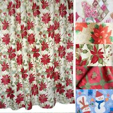 Christmas Decorations Flower Shower Curtain 180X180cm With Hooks Red Curtains
