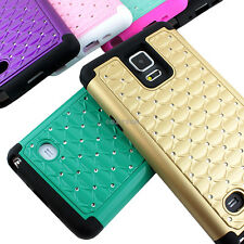 For Samsung Galaxy Note 4 Colorful Hybrid Spot Diamond Case Skin Cover Accessory