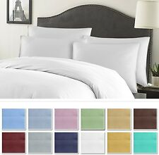 1800 Series 6 Piece Solid Cotton Bed Sheet Set With PillowCases