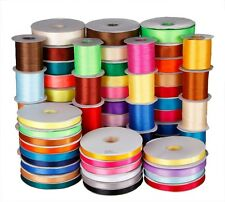50yards double face satin ribbon wedding craft decorations many color many width