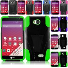 For LG Tribute / F60 / Transpyre Hybrid Hard Cell Phone Case+Soft Silicone Cover