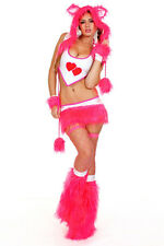Hot Pink PLUR Bear Girls Rave Clothing Fur Clubwear Gogo Electric Zoo Shambhala