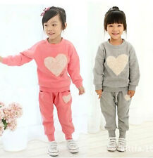 Endearing Kids Toddler Clothes Girls Baby Sportswear Tops+Trousers Suit Sz12M-5Y