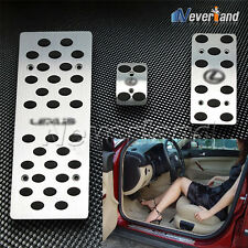 Sport Foot Rest Aluminum Pedals Set SILVER Brake AT For All Car All Model