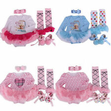 4pcs Toddle Baby Infant Clothes Dress Girl Xmas Party Outfits Tutus Newborn 2015