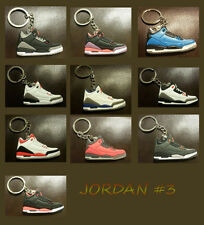 Air Jordan 3 III KEYCHAIN Black New Retro Sneaker KeyRing Shoes 23 Chicago Bulls