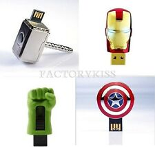4/8/16/32/64GB Avengers USB Flash Drive Ironman Captain America Thor Hulk #FKG