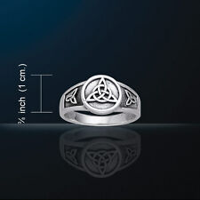 Celtic Knotwork Triquetra Ring  Charmed Symbol Trinity Knot RI877