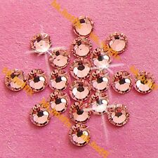 Authentic Swarovski Rose Peach (NO Hotfix ) Flatback Crystal Rhinestone Nail Gem
