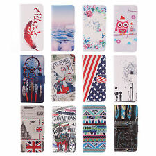 Multi Painting Classic Leather Case For Samsung Stand Lovely Card Purse Cover