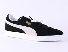 Puma Suede Half Classic Eco Mens Trainers Black White New Shoes 9.5,10.5,11.5 UK