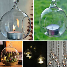 1Pc Crystal Glass Hanging Candle Holder Candlestick Romantic for Wedding Decor