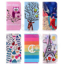 Shockproof Defender Case Fr Various Cellphone Card PU Leather Stand Wallet Cover