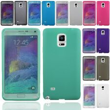 Samsung Galaxy Note 4 Wrap Up TPU Skin Case Cover With Built in Screen Protector