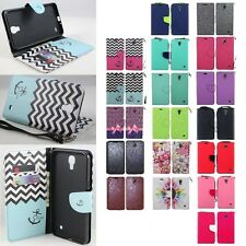 Samsung Galaxy Mega 2 Cell Phone Case Hybrid PU Leather Wallet Pouch Flip Cover
