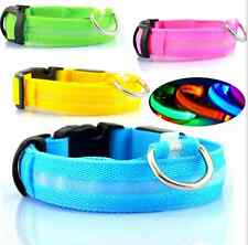 LED Flashing Adjustable Dog Collar Tag Luminous Pet Nylon