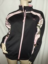 NEW Womens Pink Camo Jacket Coat Mossy Oak Realtree Windproof Softshell Stretch