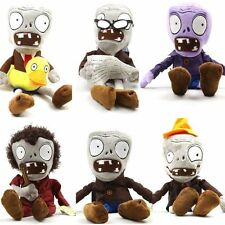 Set of 6 Zombie Plush Plants vs Zombies Toys Doll 26-28cm