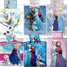 Official Disney Frozen Single / Double Duvet Cover Bed Set 6 Designs New Gift